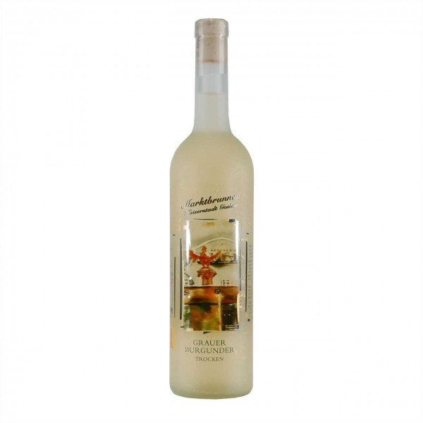 """""""Marktbrunnen Kaiserstadt Goslar"""" Wein Edition Grauer Burgunder Jg. 2015"""